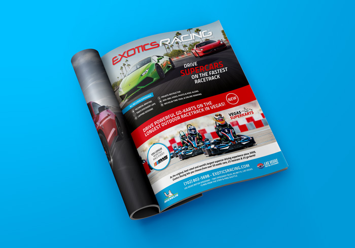 Exotics Racing Ad